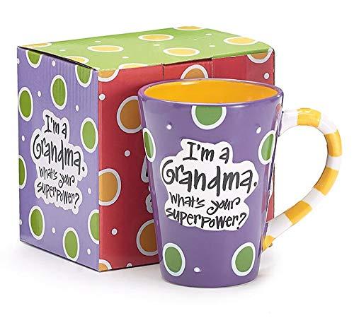 Burton 9716068 I'm A Grandma, What's Your Super Power, Coffee Mug, 12 oz....