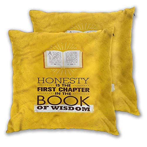 Throw Pillow Covers Book Throw for Couch Furry Chapter of Honesty Wisdom W9 xL11