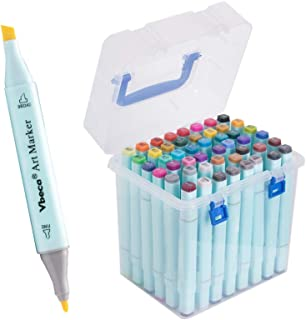 48 Colors Alcohol Brush Markers, Double Tipped Sketch Markers for Kids, Artist Art Markers, Adult Coloring and Illustration.