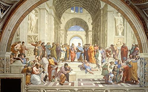 Yzybw Maluj według numerów dla dorosłych zestawy sztuka renesansowa autorstwa Rafaela dziecka początkującego ze szczotkami i pigmentem akrylowym ręcznie malowane sztuka DIY obraz olejny kreatywny 40 x 50 cm