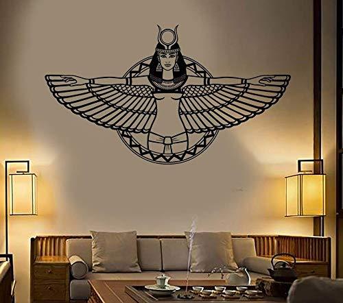 Vinilo adhesivo de pared antiguo egipcio reina egipcia Cleopatra ala calcomanía dormitorio sala de estar decoración del hogar arte mural cartel