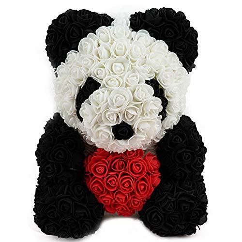 ZHKXBG Oso de Flor de Rosa, Juguete Artificial de Flor de Espuma de Rosa de Panda, Regalo para el día de la Madre, día de San Valentín, Aniversario y duchas