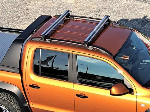 Dachträger Aero für VW Amarok Dachgepäckträger ab Baujahr 2010 aus Aluminium in Chrom 125 cm