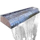 Köhko Wasserfall Victoria 30-90 cm aus Edelstahl Hochglanz Aquafall Länge: 60 cm