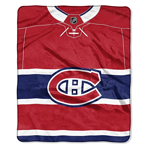 The Northwest Company NHL Montreal Canadiens 'Jersey' Raschel Throw Blanket, 50' x 60' , Red