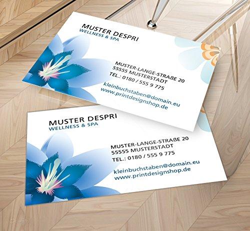Visitenkarten - Online gestalten! Despri Design VK030, einseitig, Wellness, Spa, 100 Stück