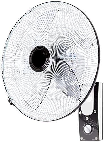TOPNIU Mejor para Uso en el hogar Ventilador de refrigeración Ventilador de Pared, inclinación/Giratorio 60W Power Bool Ruido 3 Speed16 / 18' / 20'Blanco (Color : Black (18 Inches))