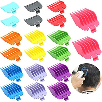 20 Pieces Hair Clipper Combs Guides Colorful Hair Trimmer Comb Guards 10 Color Coded Cutting Guides, Replacement Guards Set Compatible with Wahl Clippers and Trimmer Comb by Boao