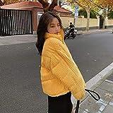 XYZMDJ Algodón Corduroy abrigo mujer 2020 invierno espesado cálido hip- hop chaqueta corta mujer de alta calidad de alta calidad Outwear mujer parkas (Color : C, Size : Medium)