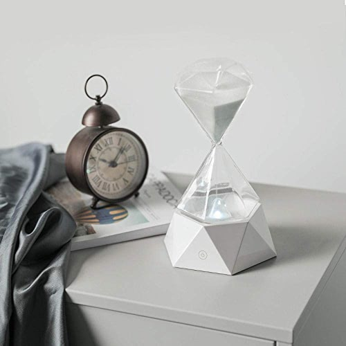 Lustrescréatif Diahommet Sablier Usb Charge Chambre Lampe De Chevet Couleuré Nuit Lumière 15 Minutes Minuterie