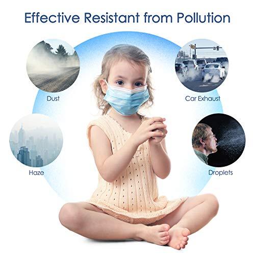 Einwegmaske 3 lagige Gesichtsmaske IDOIT,Atemschutzmaske Mundschutz Maske 50 Stück,Elastische Ohrschlaufen Filter Gesichtsschutz für zu Hause/im Büro/in der Schule/im Freien - 3