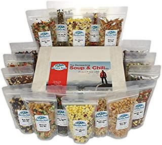 Harmony House Foods, Backpacking Soup & Chili Kit, 1 Cup Zip Pouches