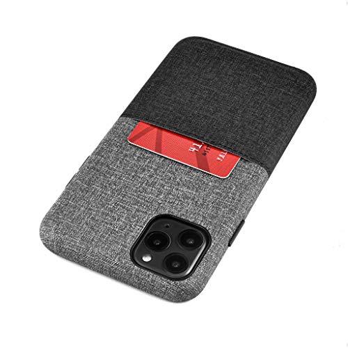 Dockem Luxe M1 Funda Cartera para iPhone 11 Pro MAX (6.5): Funda Tarjetero Slim con Placa de Metal Integrada para Soporte Magnético: Serie M [Negro y Gris]