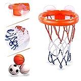 CGRTEUNIE Bain Jouet Amusant Basketball Cerceau et Football Baseball Jouets Playset...