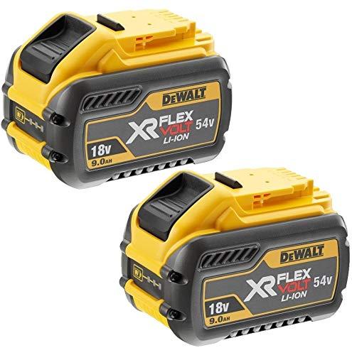 Dewalt DCB547 18 V / 54 V XR FLEXVOLT 9.0 Ah Akku DCB547-XJ-Twin Pack, 18 V, Gelb