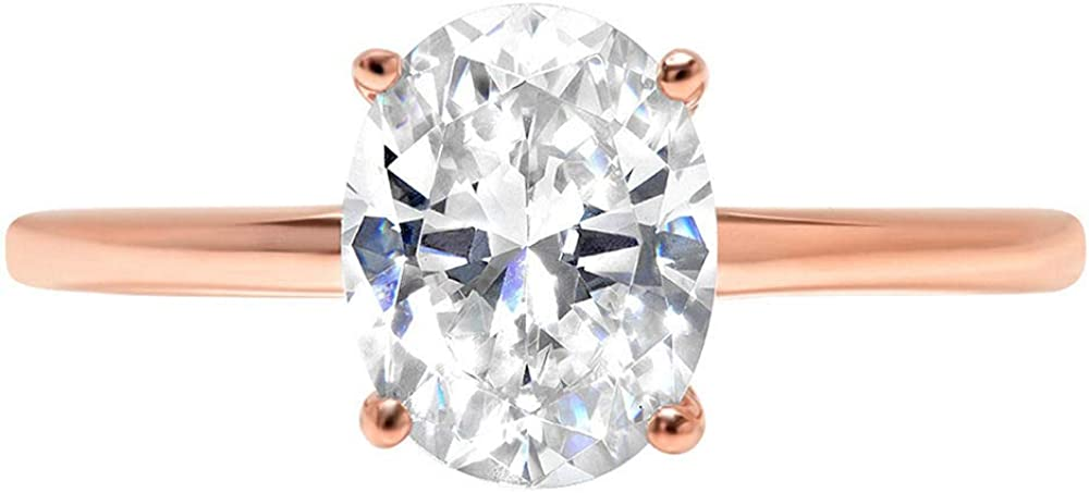 2ct Oval Max 40% OFF Brilliant Cut Classic Solitaire Bridal Outlet sale feature Wedding Designer
