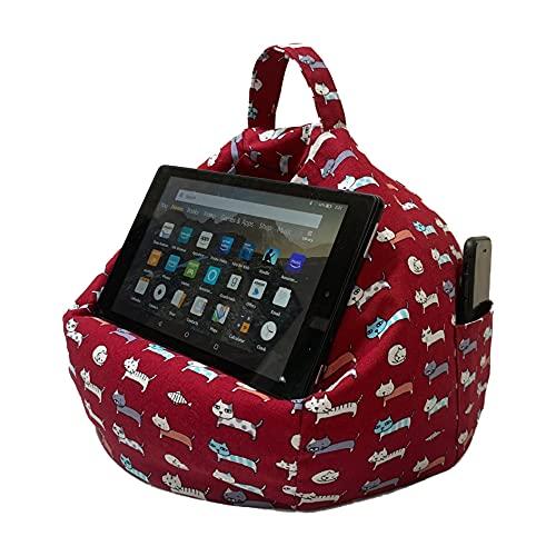 MyCushy Tablet-Ständer Kissen, Buchhalter, eReader, Telefonständer, Tablets, verstellbar, Freisprecheinrichtung, tragbar für Reisen, leicht, maschinenwaschbar