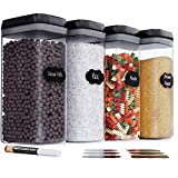 Chef's Path Airtight Extra Large Food Storage Container - 4 PC Set/All Same Size - Kitchen & Pantry Organization - Ideal for Cereal, Spaghetti, Noodles, Pasta & Flour - Plastic Canisters with Lids
