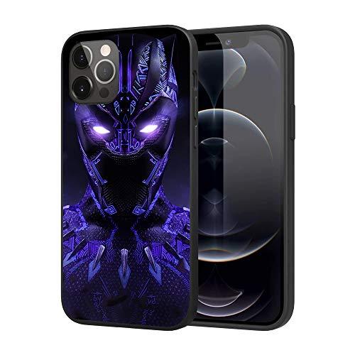iPhone 12 Case iPhone 12 Pro Case, Feel Comfortable Comics Case Plastic Cover Case (Black-Panther)