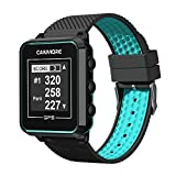 CANMORE TW-353 GPS Golf Watch - Essential Golf Course Data and Score Sheet - Minimalist & User Friendly - 38,000+ Free Courses Worldwide - 4ATM Waterproof - 1-Year Warranty - Black/Turquoise