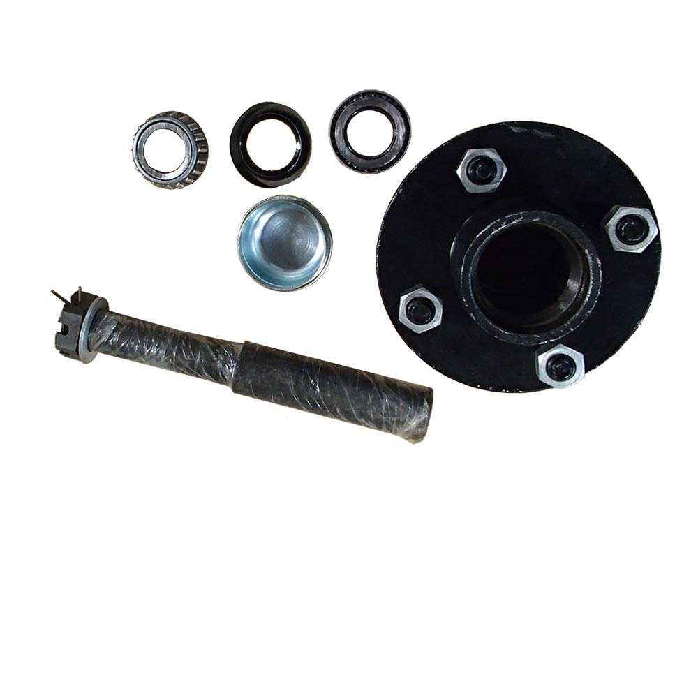 Trailer Axle Kit Assembly with 4 on Round 4