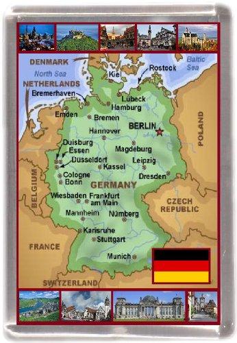 Kühlschrankmagnet Deutschland landkarte Geschenk Tourist Souvenir
