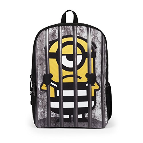"Mojo Life Despicable Me Minions""Behind Bars"" Backpack School Bag"