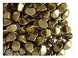 Pinch Bead, 5x3.5mm, 50 piezas, cuentas de vidrio prensado triédrica checas en forma de semillas de trigo sarraceno, Crystal/Light Gold Metallic