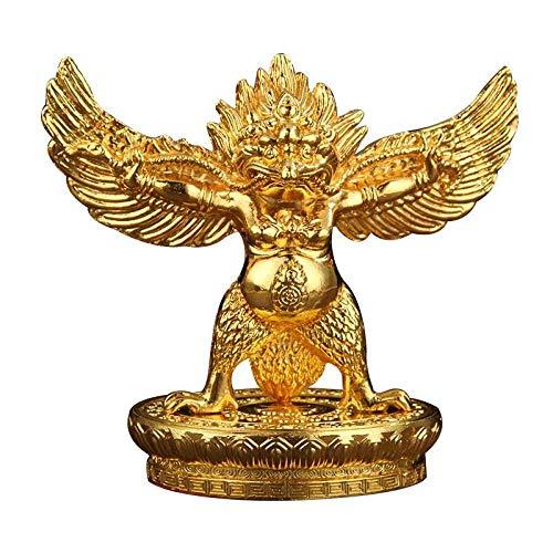 PZAIQ Deko Figur Figuren Statue Buddhistische Legierung Metallvergoldung Gold Lucky ROC Garuda Great Golden