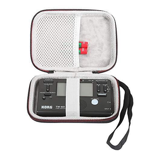 LuckyNV Travel Aufbewahrungskoffer für Korg TM60BK Instruments Stimmgerät Metronom-Recorder passend für Ansteckmikrofon