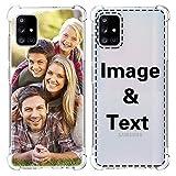 AIPNIS Funda Personalizada para Samsung Galaxy A71 4G, Regalo de Fotos Personalizable, TPU Suave y Transparente para Design Your Photos or Text