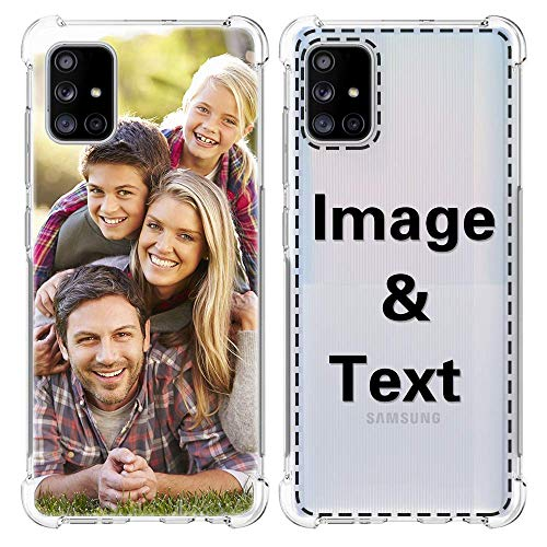 AIPNIS Cover Personalizzata per Samsung Galaxy A51, con Assorbimento degli Urti Morbido Trasparente TPU Custodia con Foto Stampa HD