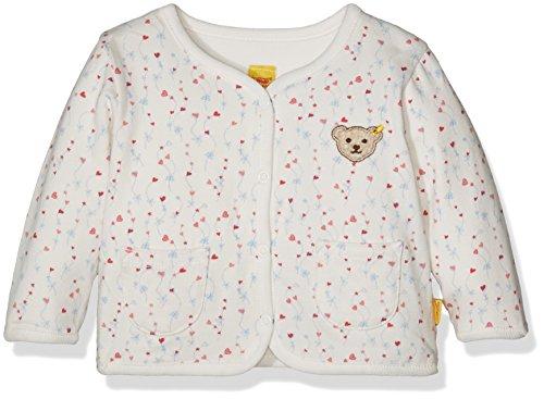 Steiff Sweatjacke 1/1 Arm zum Wenden Sweat-Shirt, Multicolore (Allover 0003), 3 Mois Bébé Fille