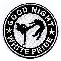Good Night White Pride Aufnäher klass. Motiv GNWP von Bienpatch