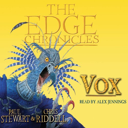Vox     The Edge Chronicles, Book 8              By:                                                                                                                                 Paul Stewart,                                                                                        Chris Riddell                               Narrated by:                                                                                                                                 Alex Jennings                      Length: 3 hrs and 14 mins     1 rating     Overall 5.0