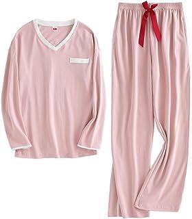パジャマ レディース 綿100% ルームウェア Vネック 長袖 上下セット 部屋着 寝間着 通気 可愛い 春 秋 冬