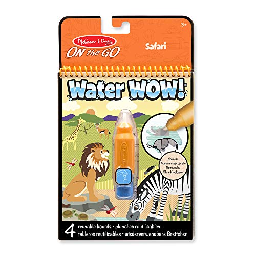 Melissa & Doug- Water Wow Safari Juego de Dibujo, 3-7 Años, Multicolor...