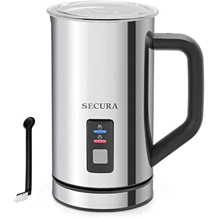 Secura Milk Frother, Stainless Steel 8.4oz/250ml Electric Milk Steamer, Automatic Hot and Cold Foam Maker and Milk Warmer for Latte, Cappuccinos, Macchiato, 120V
