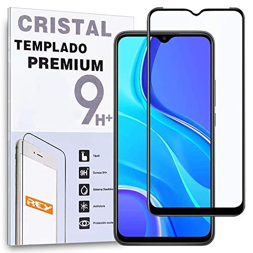 Protector de Pantalla Curvo para Xiaomi Redmi 9, Negro, Cristal Vidrio Templado Premium, 3D / 4D / 5D, Anti Roturas