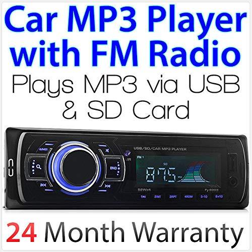 Lecteur radio MP3/USB/SD/AUX/FM pour autoradio 1 DIN
