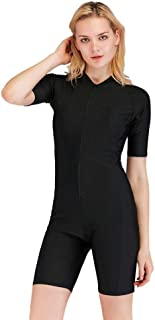 Women's Wetsuits Rash Guard Surfing Suit Women Dive Skin Short Sleeve One Piece Swimwear Sun Protection Wetsuit Diving, Snorkeling, Swimming, Surfing, Sailing Shorty Suits