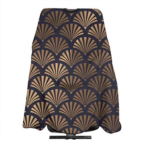Art Deco Tablier de coiffure imperméable pour homme et femme avec cape anti-statique 140 x 168 cm