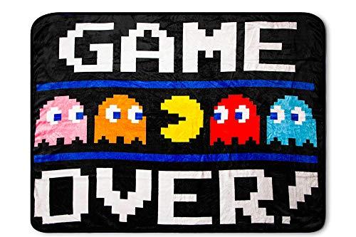 Pac-Man Game Over Throw Blanket | 45 x 60 Inch Soft Fleece Blanket