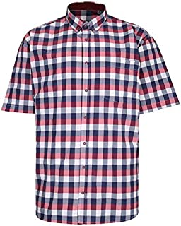 Kam Premium Large Check Shirt P642 Red 2XL