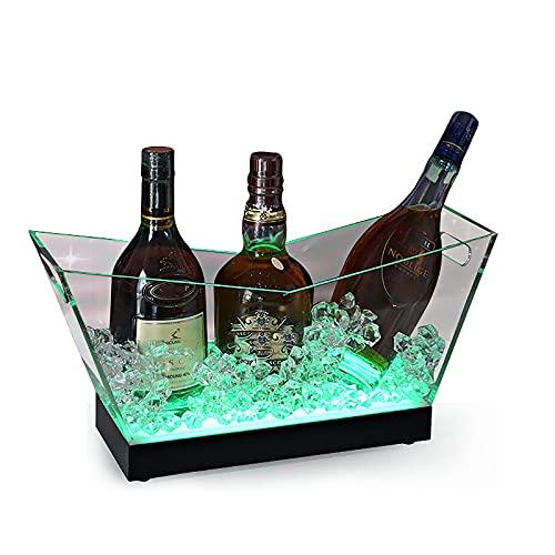 Cubo de hielo LED,Contenedores de bebidas con varios colores cambiantes,Soporte de exhibición de vino iluminado,Juego de vino para KTV Party Bar
