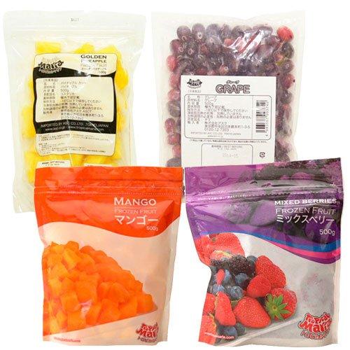 南米(チリ、ペルー、コスタリカ) フルーツ 4種類セット 500g×4袋 トロピカルマリア 冷凍