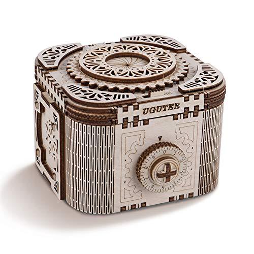 N+A Maquetas de Caja Misteriosa para Construir Adultos, Maquetas Mecanico de Madera para Montar, Caja Fuerte Puzzle 3D Madera Construcciones, Regalo para Niños Niñas Hombres y Mujeres