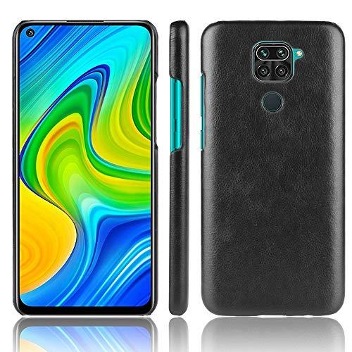 LISUONG MCDC For AYT Mi redmi Nota 9 / redmi 10X 4G a Prueba de Golpes Litchi Textura Caja de la PC + PU (Negro) (Color : Black)