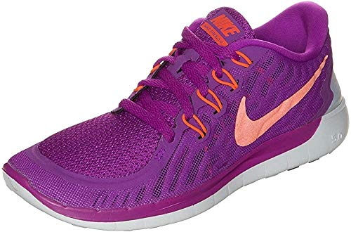 Nike Wmns Free 5.0 - Scarpe sportive Donna, Viola (Violett (Vvd Prpl/Hypr Orng-Blk-Fchs Gl 503)), 39