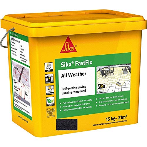 Sika FastFix All Weather Self Setting Paving Jointing Compound, Charcoal